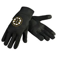 Boston Bruins Neoprene Gloves Sports Logo Winter NEW Texting Tips - High End
