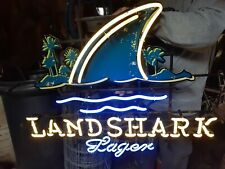 Large Landshark Fin Neon Sign Surf Board Beach Display Beer Store Bar Light