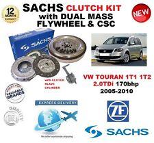 POUR VW TOURAN 2.0 TDi SACHS KIT EMBRAYAGE 170bhp 05-10 avec VOLANT MOTEUR CSC