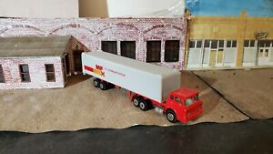 Vintage Yatming HO scale 1:87 Ford Tractor Trailer Motor Freight Express MFX NM