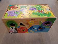 Holzspielzeug, Safari Spielbox, Entdeckerbox, viele Spielmöglichkeiten, gebr.