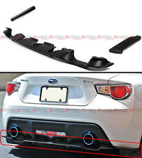 For 2013-16 Scion FRS FT 86 Rear Bumper Lower Diffuser + 2 Pc Add-on Side Aprons