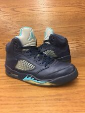 baa6afc3930 Air Jordan 5 Retro Pre Grape Midnight Navy Mens Basketball Shoes Size 8