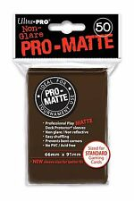 (600) ULTRA PRO Card Sleeves *PRO-MATTE BROWN * DECK PROTECTORS MTG 12 Pack Box