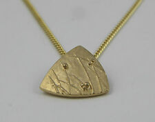 Scottish Ola Gorie Mistral Pendant 9ct Yellow Gold Chain