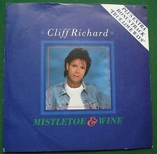 "Cliff Richard Mistletoe & Wine + True Love Ways 7"" Single"