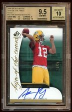 BGS 9.5 10 AUTO AARON RODGERS SP AUTHENTIC RC AUTO 12/25 JERSEY#  1/1  PACKERS