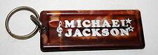 Vintage Michael Jackson Collectors Brown Color Plastic Key Chain 1980s NOS New