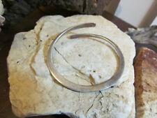 Vintage 925 Sterling Silver Swirl Hoop Bangle Cuff Adjustable Bracelet  11.1 gr.