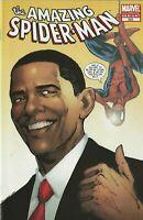 Marvel Comics The Amazing Spiderman Issue 583 2nd Printing Variant BARACK OBAMA