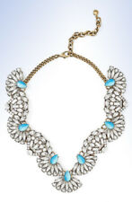 BAUBLEBAR Antiqued Gold-Tone IRIS Crystal Cluster Bib Necklace