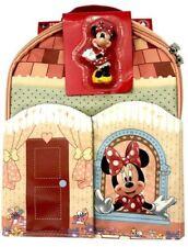 Disney Parks Exclusive Minnie Mouse Play Mat Bolso Mochila con estatuilla Nuevo Nuevo Con Etiquetas