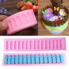 DIY 3D Fence Silicone Fondant Cake Decoration Mold Sugarcraft Baking Mould Tools