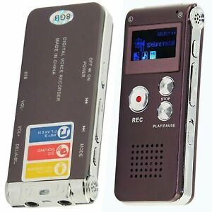 8GB Hidden Voice Recorder Spy Digital Rechargeable Dictaphone Mp3 Player Sound