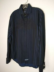 English Laundry Men's Shirt Sz Large Hand Embroidered Button Down-Long Sleeve