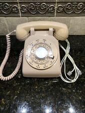VINTAGE BELL SYSTEM MADE BY WESTERN ELECTRIC ROTARY DIAL TELEPHONE ~ BEIGE