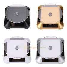 Solar Power 360° Rotating Display Stand Turn Table Plate For Jewelry Watch Phone