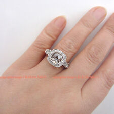 Genuine Solid 9ct White Gold Engagement Wedding Ring Jewellery Simulated Diamond