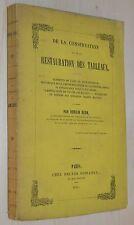 De la conservation restauration Tableaux Horsin Déon 1851