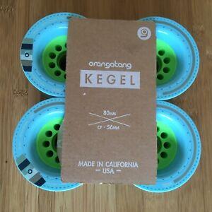Blue Kegel Flagship Orangatang Wheels 80mm Boosted Board Stealth Mini Upgrade