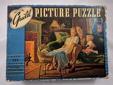 "Vintage 1940s Guild Picture Puzzle ""Home On Leave"" 300+ Pieces 16x20 Made USA"