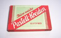 Feine weiche Pastell - Kreiden Pastellkreide 1940er Giftfrei OVP Reklame !