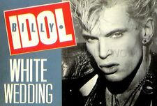 BILLY IDOL WHITE WEDDING 1982 CP VINTAGE POSTCARD ORIGINAL
