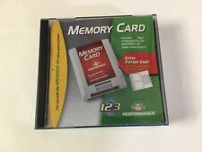 Nintendo 64 Memory Card by Performance N64 Complete In Box Lot Of 3