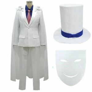 DETECTIVE CONAN Magic Kaito Kid the Phantom Thief Uniforms Cosplay{LK}