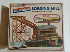 Life-Like Operating 8201 Logging Mill W/ Operating Log Car, Excellent Condition