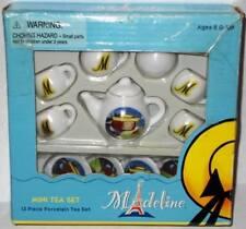 Schylling MADELINE Mini Porcelain Tea Set in Box 2002 12 Piece Little Girls Toy
