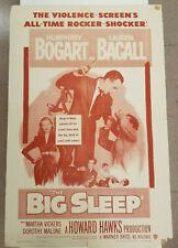 The Big Sleep Original Movie Poster 1954 Re-Release 1-Sheet 27x41 Bogart Bacall