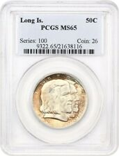 1936 Long Island 50c PCGS MS65 - Colorful Toning - Silver Classic Commemorative
