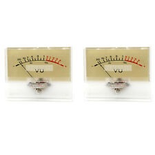 2pcs T-90 VU Meter DB Level Header Amplifier chassis Audio preamp With Backlight