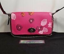 PREOWNED COACH Pristine Mini Ruby Crossbody Floral Print Canvas Pink Multicolor