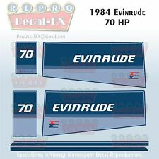 1984 Evinrude 70 HP Outboard Reproduction 6 Piece Marine Vinyl Decals 70ELCR
