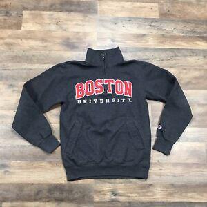 Boston University Terriers 1/4 Zip Pullover Sweatshirt Men's Small College Adult
