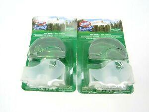 2 X Clorox Fraganzia Pine Woods Aromatic Toilet Bowl Rim Hanger 1.85 Oz.~ New