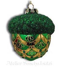 Katherine´s Collection Weihnachten Christbaumkugel Glaskugel Eichel grün NEU
