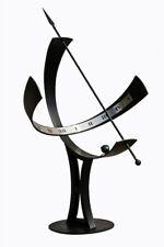 Sonnenuhr Mega H-170 cm D-100 cm Schmiedeeisen Metall Wetterfest Schmiedekunst