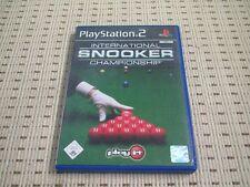 International Snooker Championship für Playstation 2 PS2 PS 2 *OVP*
