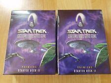 Star Trek Decipher CCG - 2x Premiere Starter Deck II - Factory Sealed