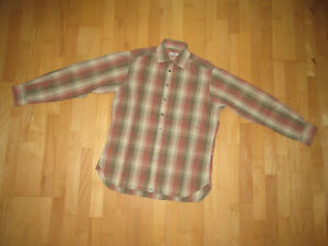 Burberry London Hemd beige-rot kariert Größe L -/15 1/2 -/ Größe 39 ORIGINAL