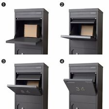 NEW Monument PARCEL DROPBOX With LETTER COMPARTMENT Pillar Mailbox