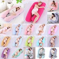 U-Shape Pregnancy Full Body Pillow Women Maternity Pillow Side Sleeping Support