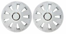 "Pair Of White 13"" Caravan Wheel Trims Hub Caps for ABI Award Dawnstar 1998"