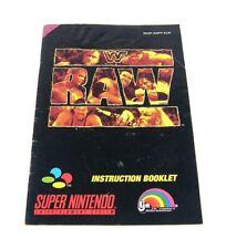 WWF Raw Spielanleitung Handbuch Manual Booklet SNSP-AWFP-EUR Super Nintendo