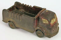 "VINTAGE AUBURN RUBBER STAKE TRUCK TOY CAR 5.5"" LONG DARK RED COLOR"