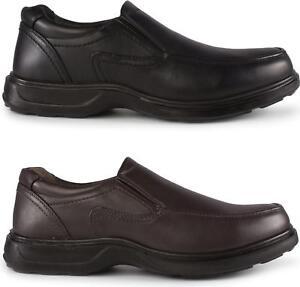 Hommes Neuf Noir Confortable À Lacets À Enfiler Décontracté//Formel Travail Chaussures UK Taille 6-11