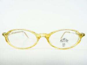 Designer Damenbrille Brillengestell honig transparent hell oval mandelform Gr. M